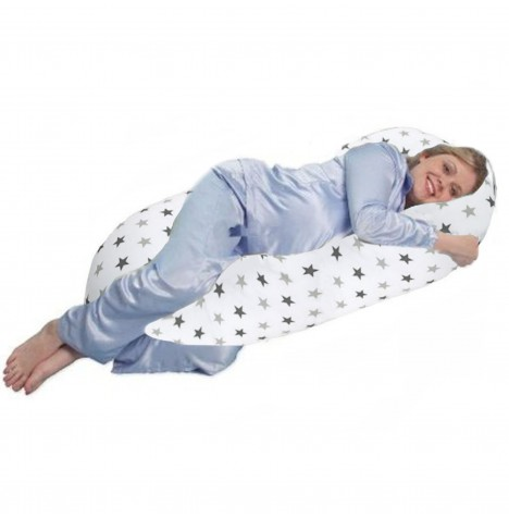 4baby 9ft Cuddle Me Body & Baby Support Pillow - Silver Twinkle